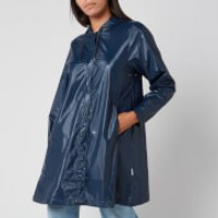 RAINS Womens Aline Jacket - Shiny Blue - XS/S