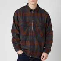 Edwin Men's Plaid Check Radar Shirt - Martini Olive/Auburn - M