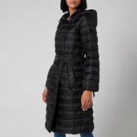 MICHAEL MICHAEL KORS Womens Packable Trench Puffer Coat - Black - L
