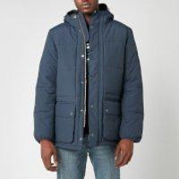 Barbour International Mens Goshen Quilt Jacket - Navy - L