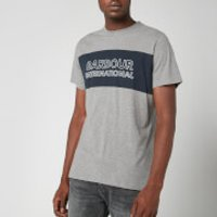 Barbour International Men's Panel Logo T-Shirt - Anthracite - L