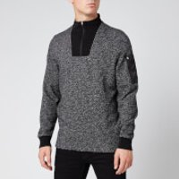 Barbour International Men's Bal Half Zip Sweatshirt - Grey Marl - XL