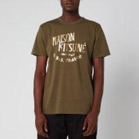 Maison Kitsune Men's Palais Royal T-Shirt - Khaki - M