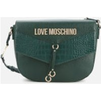 Love Moschino Womens Moc Croc Shoulder Bag - Green