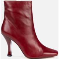 Kurt Geiger London Women's Rocco Leather Heeled Boots - Wine - UK 8