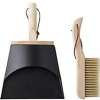 Bloomingville Cleaning Dustpan & Broom - Black