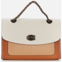 shop for Coach Women's Colorblock Leather Parker Shoulder Bag - Chalk Multi at Shopo