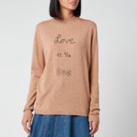 Bella Freud Women's Love is the Dog Jumper - Biscuit - M