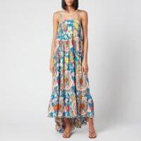 Simon Miller Women's Pumpa Layered Tank Dress - Blue Floral Print - M