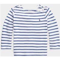 Polo Ralph Lauren Stripe Long Sleeve Top - White - 6 Months