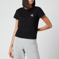 Calvin Klein Womens Short Sleeve Crewneck T-Shirt - Black - L