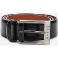 Ted Baker Men's Waffler Branded Leather Belt - Black - W36