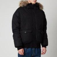 Pyrenex Mens Mistral Fur Collar Jacket - Black - M