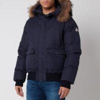 Pyrenex Mens Mistral Fur Collar Jacket - Amiral - L
