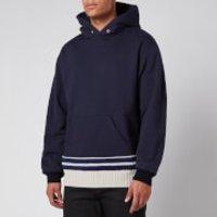 Maison Margiela Men's Contrast Knit Hoodie - Navy - 50/M