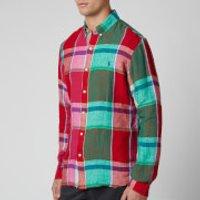 Polo Ralph Lauren Men's Sport Shirt - Red/Green Multi - S