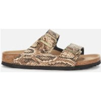 Birkenstock Women's Arizona Leather Double Strap Sandals - Snake Beige - UK 4.5/EU 37