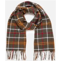 Barbour Casual Womens Barmack Houndstooth Tartan Scarf - Classic