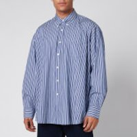 Our Legacy Men's Borrowed Bd Multiple Stripe Shirt - Blue - 48/M