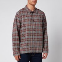 Our Legacy Men's Box Rustic Plaid Shirt - Orange/Brown - 52/XL