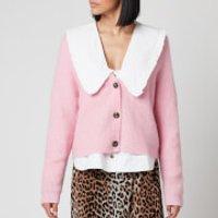 Ganni Women's Soft Wool Knit Cardigan - Sweet Lilac - S