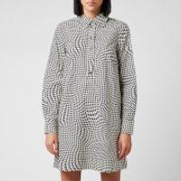 Ganni Women's Printed Cotton Poplin Dress - Brazilian Sand - EU 34/UK 6