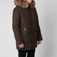 Mackage Men's Seth DFR Medium Down Fur Hood Parka - Army - US 44/XL