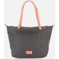 shop for Radley Women's Pocket Essentials - Polka Spot Large Ziptop Tote Bag - Black at Shopo