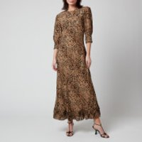 RIXO Women's Jessie Dress - Leopard Spot - S