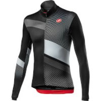Castelli Mid Thermal Pro LS Jersey - XL - Light Black/Silver Grey/Dark Grey