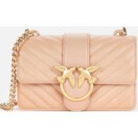 shop for Pinko Women's Love Mini Icon V Quilt Bag - Powder Pink at Shopo