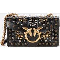 shop for Pinko Women's Love Mini Icon New Studs Bag - Black at Shopo