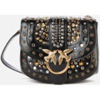 shop for Pinko Women's Love Go Round Soft New Studs Bag - Black at Shopo