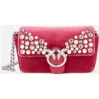 shop for Pinko Women's Love Tiny Full Pearls Bag - Fuschia at Shopo