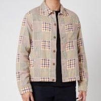 YMC Men's Griffon Check Flannel Bowling Shirt - Multi - L