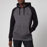 Superdry Men's Orange Label Classic Raglan Hoodie - Low Light Black Grit - XL