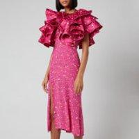 ROTATE Women's Carmen Dress - Paint Splash AOP - DK 36/UK 10