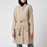 RAINS Womens Belt Jacket - Beige - XS/S