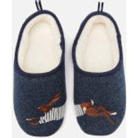 Joules Women's Slippet Felt Mule Applique Slippers - Navy Hare - L