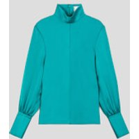 AMI Women's Long Sleeve Shirt - Green - FR 38/UK 10