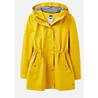 Joules Womens Shoreside Waterproof A-Line Coat - Antique Gold - UK 14
