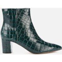 Kurt Geiger London Women's Burlington Leather Heeled Ankle Boots - Dark Green - UK 4