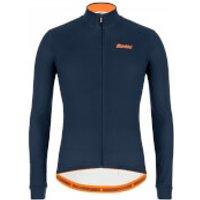 Santini Colore Long Sleeve Jersey - XL - Nautica Blue