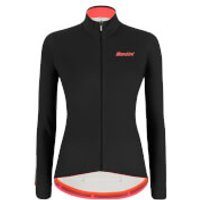 Santini Women's Colore Long Sleeve Jersey - L - Black
