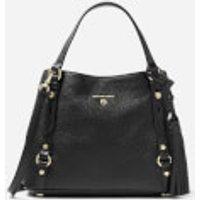Michael Michael Kors Womens Carrie Medium Messenger Bag - Black
