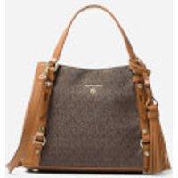 Michael Michael Kors Womens Carrie Medium Messenger Bag - Brown/Acorn