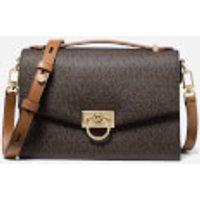 Michael Michael Kors Womens Hendrix Medium Messenger Bag - Brown/Acorn