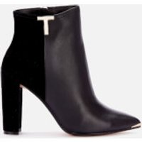 Ted Baker Women's Qinala T Detail Leather Boots - Black - UK 3
