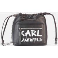 shop for Karl Lagerfeld Women's K/Soho Graffiti Small Cross Body Bag - Black/White at Shopo