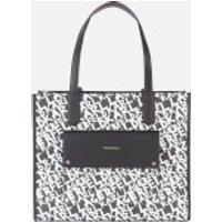 shop for Karl Lagerfeld Women's K/Ikon Graffiti Tote Bag - Black/White at Shopo